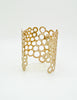 Paco Rabanne Vintage Gold Cut Out Bubble Cuff Bracelet - Amarcord Vintage Fashion  - 4