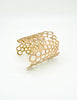 Paco Rabanne Vintage Gold Cut Out Bubble Cuff Bracelet - Amarcord Vintage Fashion  - 3