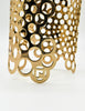 Paco Rabanne Vintage Gold Cut Out Bubble Cuff Bracelet - Amarcord Vintage Fashion  - 5