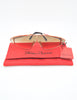 Paloma Picasso Vintage Orange and Gold Space Sunglasses 3728 - Amarcord Vintage Fashion  - 7