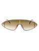 Paloma Picasso Vintage Orange and Gold Space Sunglasses 3728 - Amarcord Vintage Fashion  - 1