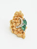 Panetta Vintage Huge Gold Rhinestone Modernist Cocktail Ring - Amarcord Vintage Fashion  - 5