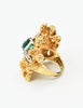 Panetta Vintage Huge Gold Rhinestone Modernist Cocktail Ring - Amarcord Vintage Fashion  - 6