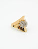 Panetta Vintage Modernist Gold Rhinestone Cocktail Ring - Amarcord Vintage Fashion  - 2