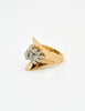 Panetta Vintage Modernist Gold Rhinestone Cocktail Ring - Amarcord Vintage Fashion  - 3