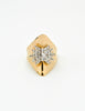 Panetta Vintage Modernist Gold Rhinestone Cocktail Ring - Amarcord Vintage Fashion  - 4