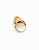 Panetta Vintage Modernist Gold Rhinestone Cocktail Ring - Amarcord Vintage Fashion  - 5