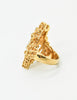 Panetta Vintage Gold Modernist Rhinestone Cocktail Ring - Amarcord Vintage Fashion  - 6