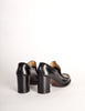 Patrick Cox Vintage Rainbow Stripe Black Leather Heeled Loafer Shoes - Amarcord Vintage Fashion  - 8