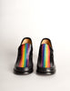 Patrick Cox Vintage Rainbow Stripe Black Leather Heeled Loafer Shoes - Amarcord Vintage Fashion  - 7
