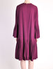 Pierre Cardin Vintage Purple Wool Pleated Dress - Amarcord Vintage Fashion  - 6