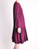 Pierre Cardin Vintage Purple Wool Pleated Dress - Amarcord Vintage Fashion  - 5