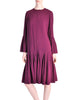 Pierre Cardin Vintage Purple Wool Pleated Dress - Amarcord Vintage Fashion  - 1