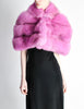 Amarcord Recycled Hot Pink Fox Fur Stole - Amarcord Vintage Fashion  - 5