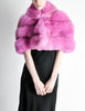 Amarcord Recycled Hot Pink Fox Fur Stole - Amarcord Vintage Fashion  - 2