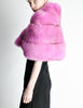 Amarcord Recycled Hot Pink Fox Fur Stole - Amarcord Vintage Fashion  - 4