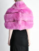 Amarcord Recycled Hot Pink Fox Fur Stole - Amarcord Vintage Fashion  - 6