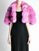 Amarcord Recycled Hot Pink Fox Fur Stole - Amarcord Vintage Fashion  - 3