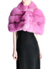 Amarcord Recycled Hot Pink Fox Fur Stole - Amarcord Vintage Fashion  - 1