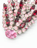 Vintage 1960s Red and Pink Glass Rhinestone Brooch - Amarcord Vintage Fashion  - 3