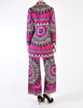 Emilio Pucci Vintage Vibrant Purple Pattern Coat & Pant Set - Amarcord Vintage Fashion  - 6
