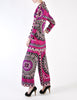Emilio Pucci Vintage Vibrant Purple Pattern Coat & Pant Set - Amarcord Vintage Fashion  - 5