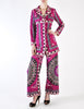 Emilio Pucci Vintage Vibrant Purple Pattern Coat & Pant Set - Amarcord Vintage Fashion  - 4