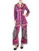 Emilio Pucci Vintage Vibrant Purple Pattern Coat & Pant Set - Amarcord Vintage Fashion  - 1
