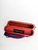 Rafael Sanchez Vintage Red Wood Tassel Box Clutch Bag