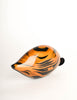 Rafael Sanchez Vintage Striped Painted Wood Shell Box Clutch Bag