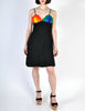 Rainbow of California Vintage Wool Colorblock Rainbow Bust Dress - Amarcord Vintage Fashion  - 3