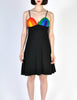 Rainbow of California Vintage Wool Colorblock Rainbow Bust Dress - Amarcord Vintage Fashion  - 4