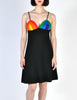 Rainbow of California Vintage Wool Colorblock Rainbow Bust Dress - Amarcord Vintage Fashion  - 2