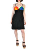 Rainbow of California Vintage Wool Colorblock Rainbow Bust Dress - Amarcord Vintage Fashion  - 1