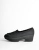 Robert Clergerie Vintage 'Vigny' Black Stretch Platform Shoes - Amarcord Vintage Fashion  - 2