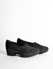 Robert Clergerie Vintage 'Vigny' Black Stretch Platform Shoes - Amarcord Vintage Fashion  - 4