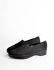 Robert Clergerie Vintage Black Stretch Platform Slip On Shoes - Amarcord Vintage Fashion  - 3