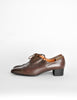 Robert Clergerie Vintage Brown Leather Heeled Oxford Shoes - Amarcord Vintage Fashion  - 2