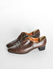 Robert Clergerie Vintage Brown Leather Heeled Oxford Shoes - Amarcord Vintage Fashion  - 3