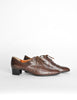 Robert Clergerie Vintage Brown Leather Heeled Oxford Shoes - Amarcord Vintage Fashion  - 4