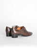 Robert Clergerie Vintage Brown Leather Heeled Oxford Shoes - Amarcord Vintage Fashion  - 6