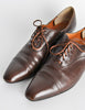 Robert Clergerie Vintage Brown Leather Heeled Oxford Shoes - Amarcord Vintage Fashion  - 5