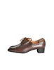 Robert Clergerie Vintage Brown Leather Heeled Oxford Shoes - Amarcord Vintage Fashion  - 1