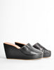 Robert Clergerie Vintage Black Leather Peep Toe Platform Mules - Amarcord Vintage Fashion  - 4