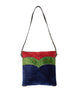 Roberta di Camerino Vintage Red Green and Blue Velvet Shoulder Bag