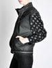 Roberto Cavalli Vintage Black & Grey Geometric Print Leather Jacket - Amarcord Vintage Fashion  - 6