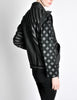 Roberto Cavalli Vintage Black & Grey Geometric Print Leather Jacket - Amarcord Vintage Fashion  - 7