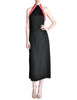 Rudi Gernreich Vintage Black Pink Red Halter Dress - Amarcord Vintage Fashion  - 1