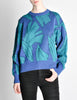 Saint Laurent Rive Gauche Vintage Leaf Print Knit Sweater - Amarcord Vintage Fashion  - 4