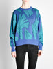 Saint Laurent Rive Gauche Vintage Leaf Print Knit Sweater - Amarcord Vintage Fashion  - 2